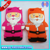 Santa Claus Sleds Merry Christmas silicone phone case for iPhone 4,iPhone 5 Christmas design