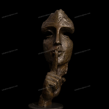 Cheap and fine cast abstract bronze art face sculpture for indoor or exhibition hall deco