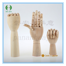 wholesale fashion natural wooden mannequin hand model