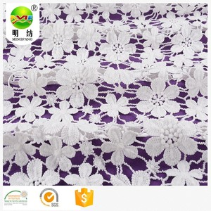 100 percent cotton chemical water soluble embroidery lace fabric