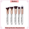 Amazon top selling high grade 5pcs professional marble makeup brushes