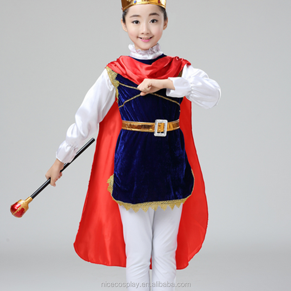 New Prince King Child Halloween Costume Cosplay Costumes Fancy Dress Wholesale