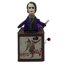 2018 Jack in the box Plastic head plush body baby toy The Dark Knight Joker Umay-A0068 music box