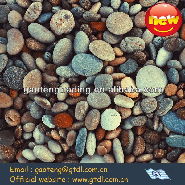 Widely used hot-selling ground granite beach pebble ( red,black, white,yellow etc.)