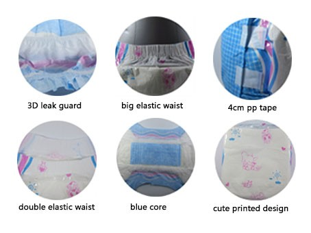 Disposable Adult Diapers with Cute Design