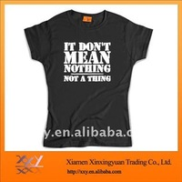 Black Promotion T-shirt For Ladies