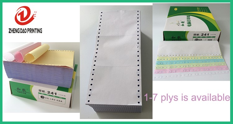 "Computer Printer Paper Dot Matrix 1000 Continuous Sheets - 9.5"" x 11"" New White"