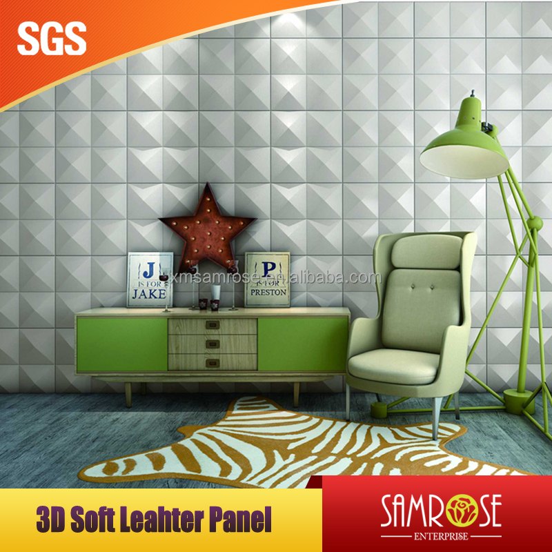 Soft Background Art 3D Leather Wall Panels