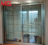 champagne grille aluminum large tempered glass fairy hotel doors manufacturer