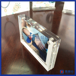 Customized size clear acrylic block photo frame / magnetic acrylic frameless picture frame
