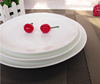 FDA ROHS REACH approved white porcelain plain plate dinner plate