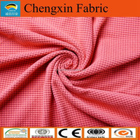 polyester weft knit fabric rib stop brushed treating for casual wear