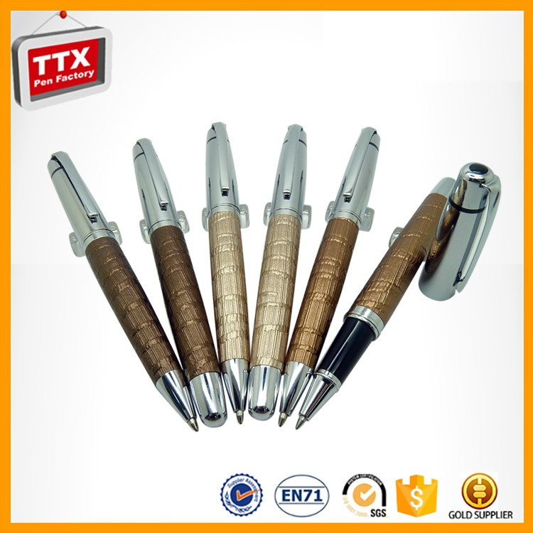 Cheap Advertising China factory promotional grip roller pen