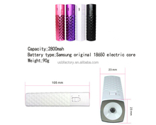 2800mah portable lipstick battery power bank charger
