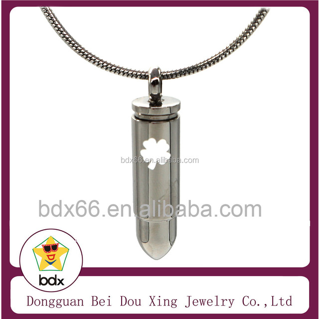 White Enamel Luck Four Leaf Clovers Ash Urn Jewelry Best Wishes Stainless Steel Cremation Memorial Keepsake Urn Cylinder Pendant