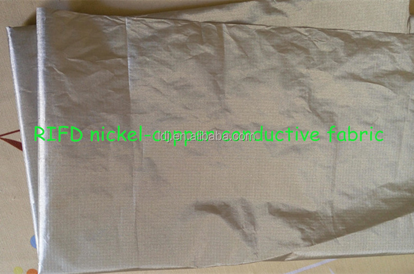 RFID Blocking fabric nickel-copper ripstop conductive fabric <strong>01</strong>