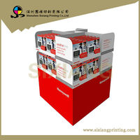 Promotional cardboard silk stockings pallet display stand