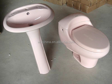 pink design jet siphon strap one piece toilet