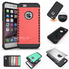 Hybrid pc tpu full cover armor case for iphone 6s plus shield case