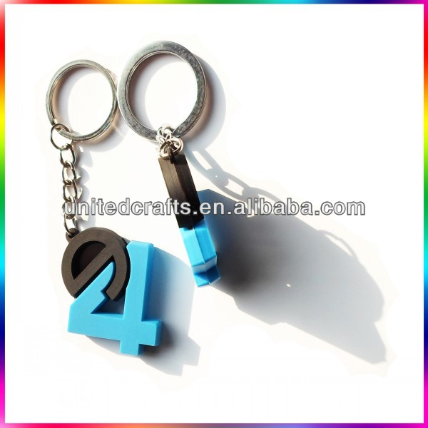 Custom made rubber keyring for promotional gifts