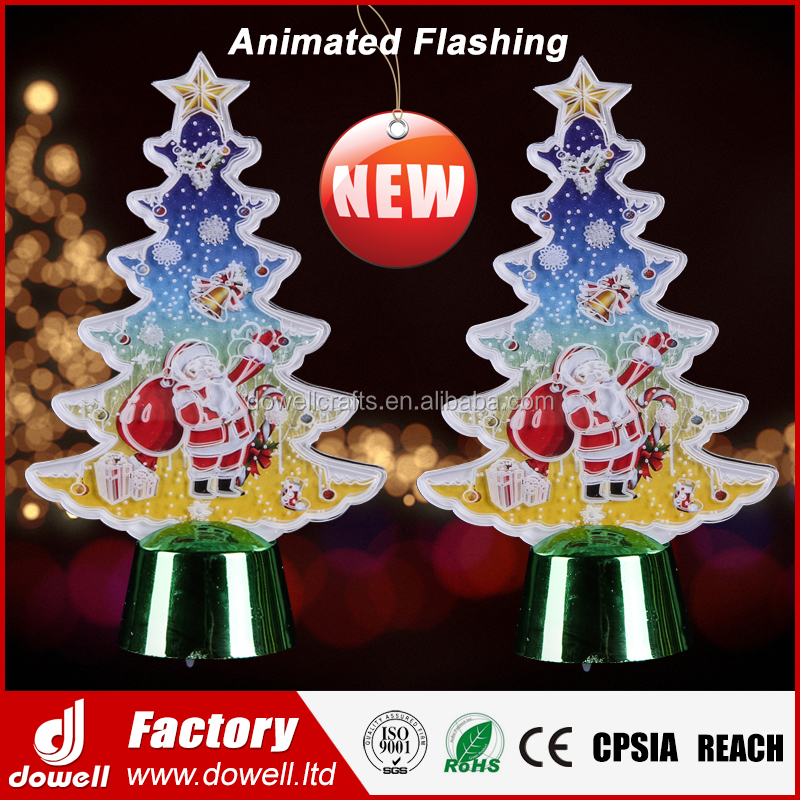 Novelty New Acrylic Animation 3D LED Light Christmas Tree Ornament