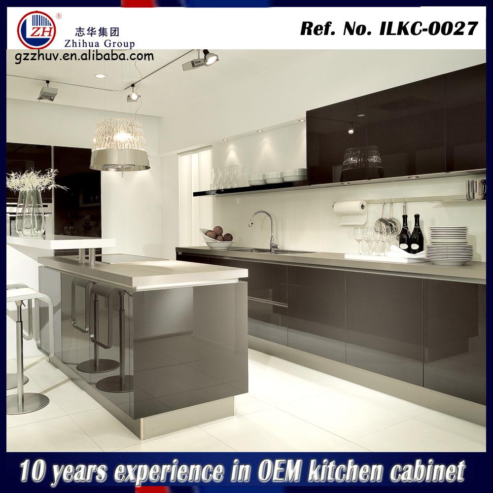 Modern high gloss kitchen cabinet laminate kitchen cabinet for Kitchen set hpl