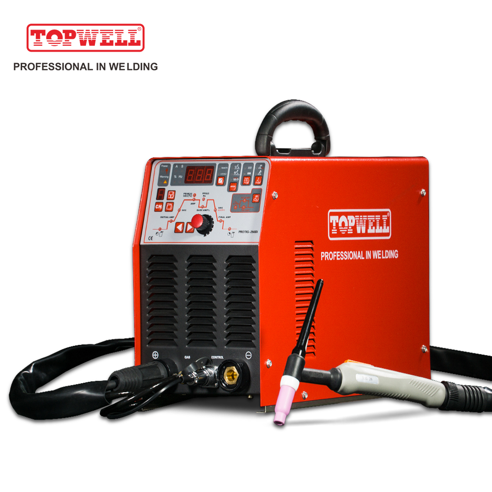 PROTIG-250Di Chinese DC pulse TIG inverter welding equipment with accessories