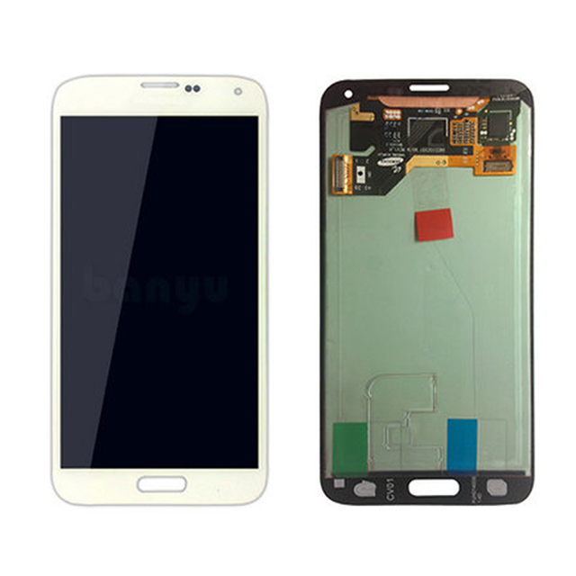 Wholesale mobile phone spare parts digitizer assembly for samsung galaxy s5 lcd