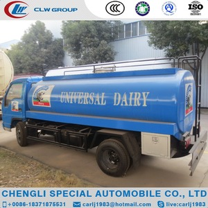 Factory cheap price 4X2 mini milk transportation tank truck 5ton