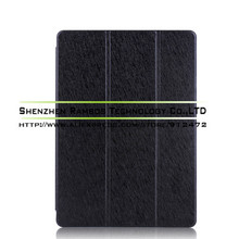 Ultra Slim Silk Pattern 3 Fold Leather Stand Folio Tablet PC Protective Cover for iPad air 2