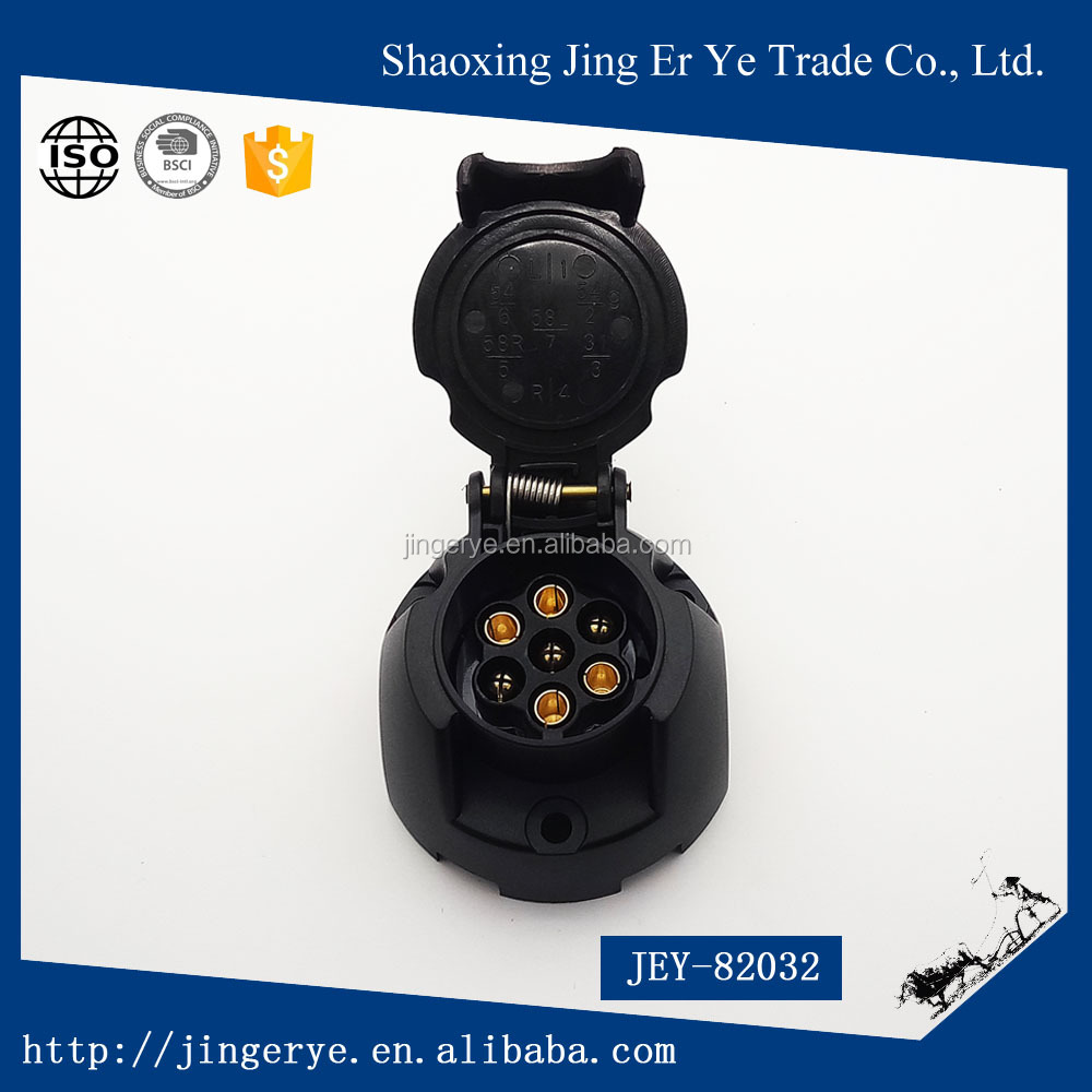 7 pin plastic trailer connector/trailer plug