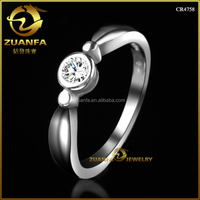HS code 7113119090 single aaaaa cubic zirconia engagement women rings