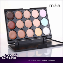New Fashion Women 15 Colors full coverage concealer, Face Cream Makeup good Cosmetic low price
