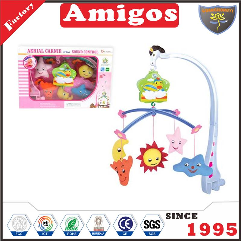 toy product voice control baby mobile musical toy toy factory