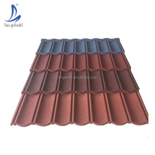 Hot sale SGB stone granule coated steel roof tile 1340*420 low price japan