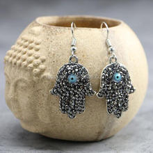 LS-D6357 NEW style !! Crystal Paved Clay Fashion Chrismas Hamsa Earrings