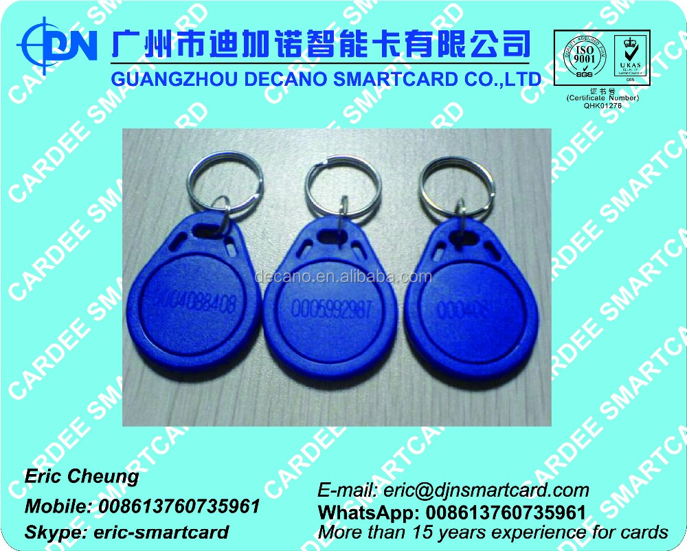 RFID access control key fob tag for door and lift