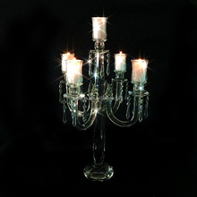 65cm Tall Wedding Centerpiece candlestick elegant white Crystal candelabra