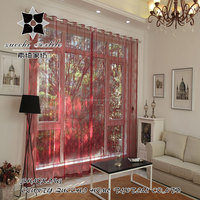 2016 New design voile Embroidered sheer Tulle mesh Curtains and fabric