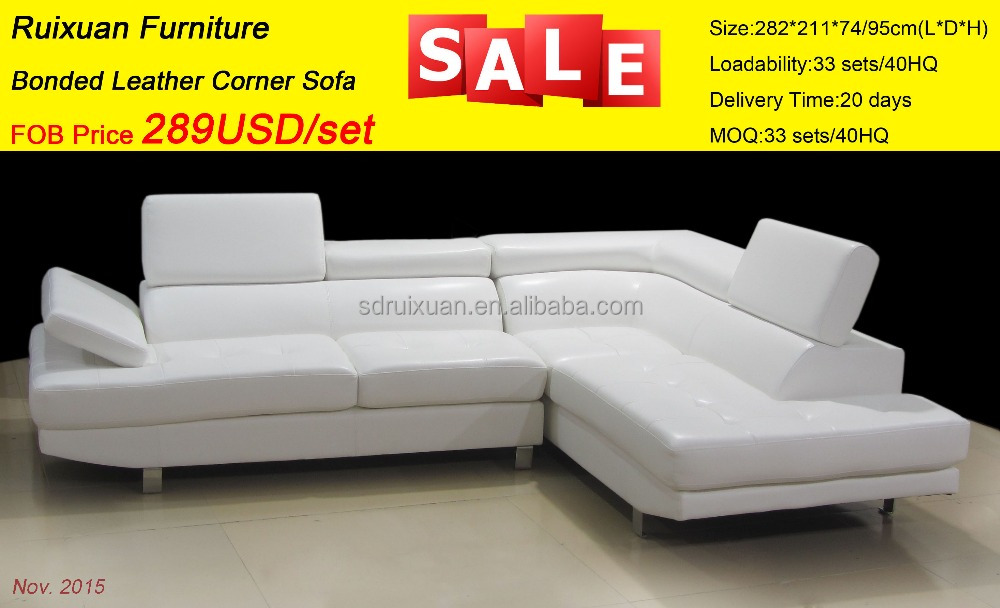 American Style Furniture Promotion Professional Sofa Manufacturer Modern Leather Sectional