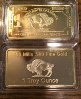 100 mills 999 fine Gold silver 1troy ounce bar