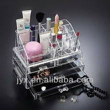 Clear Acrylic Cosmetic Makeup Jewelery Organizer 4 Drawers