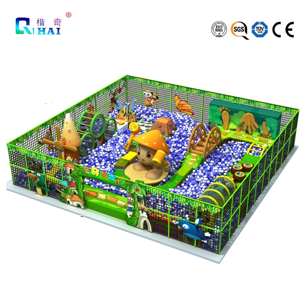 Cheap play ground equipment indoor kids castle slide and swing playground