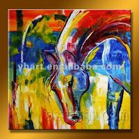 Hot Sell Handmade Abstract Horse Oil Painting