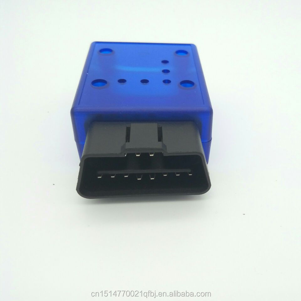 ELM 327 OBD2 OBD 2 OBDII OBD-II Interface adaptor connector ELM327 bluetooth blue OBD Male Plug and Cover