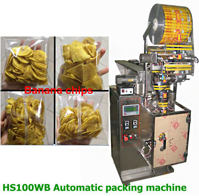 HS100WB semi-automatic manually weighing fruit slice filling packing machine for apple slice and banana slice