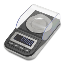 High Precision Digital Milligram Scale with Case, Tweezers, Calibration Weights and Three Weighing Pans, 50 x 0.001g (NV-J285A)
