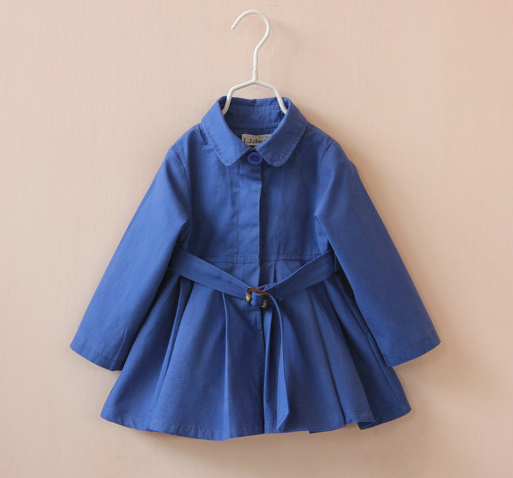 Winter Jacket Kids Trench Coat Autumn Fashion Girls New Designs Coat