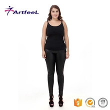 Wholesale custom tight black leather work cheap pants for women