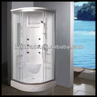 white back sliding door 900mm size complete enclosed shower room